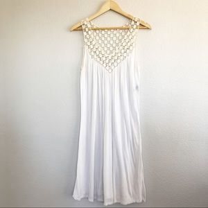 Kenneth Cole White Boho Midi Dress Sz Medium.